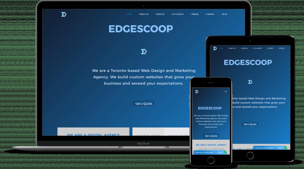 Edgescoop Website mock up