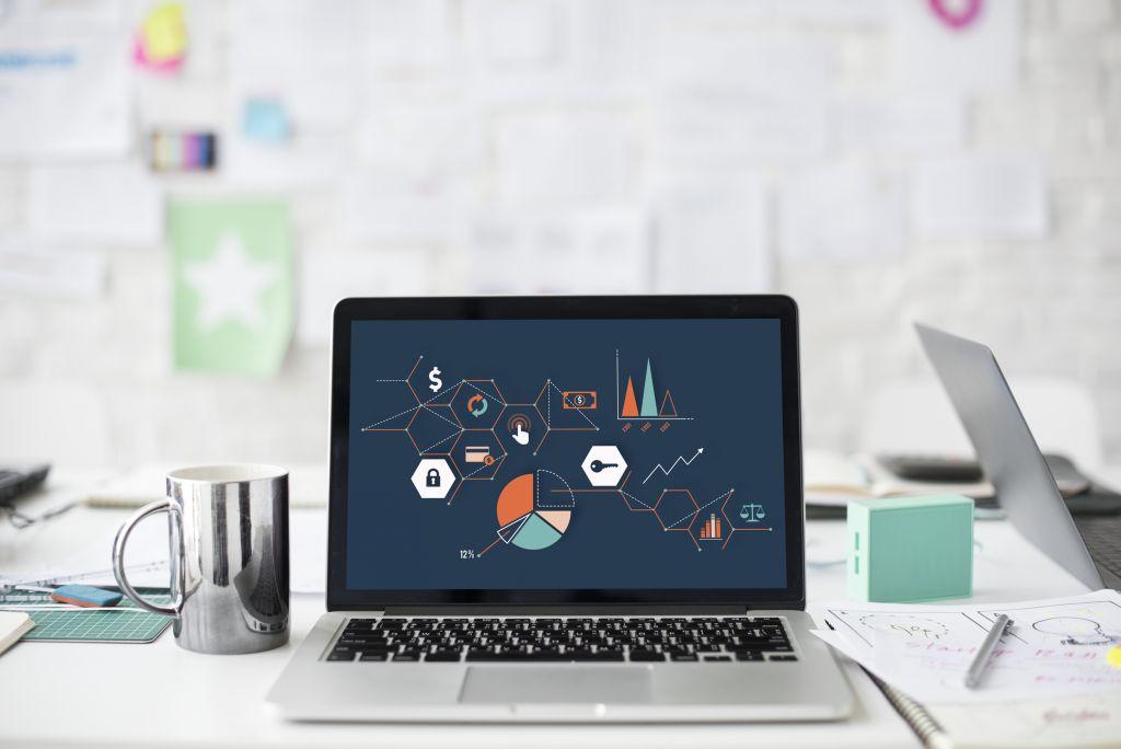 Website on laptop screen